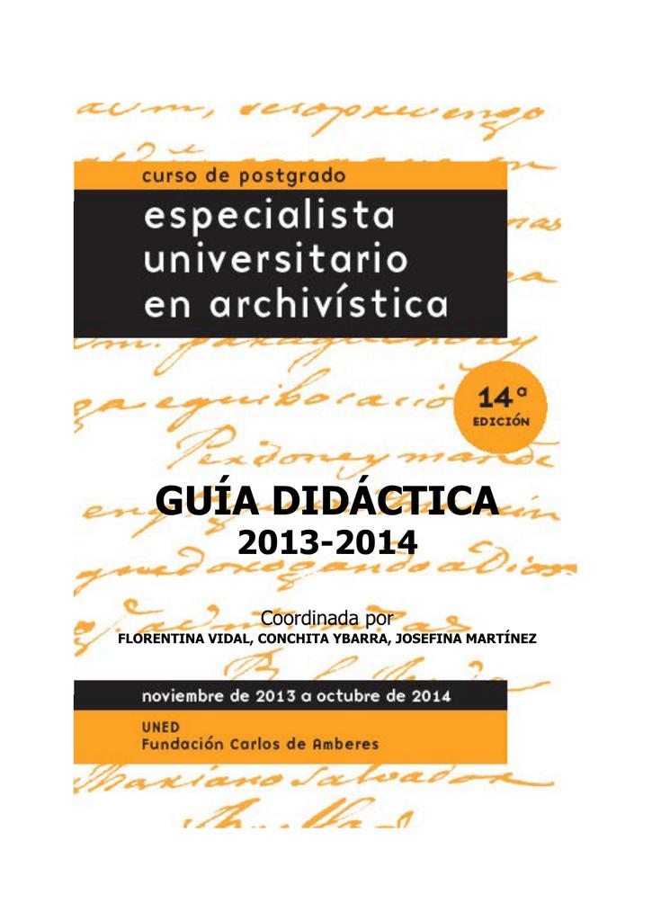 Cursos Especialista universitario en archivística