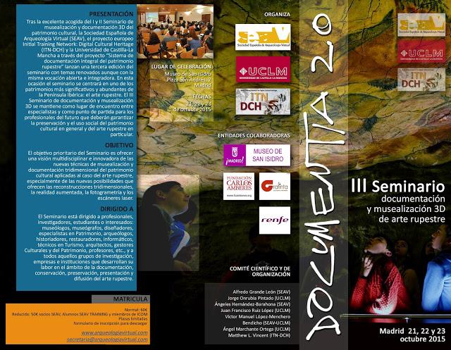 Documentia 2.0. III Seminario de documentación y musealización 3D de arte rupestre