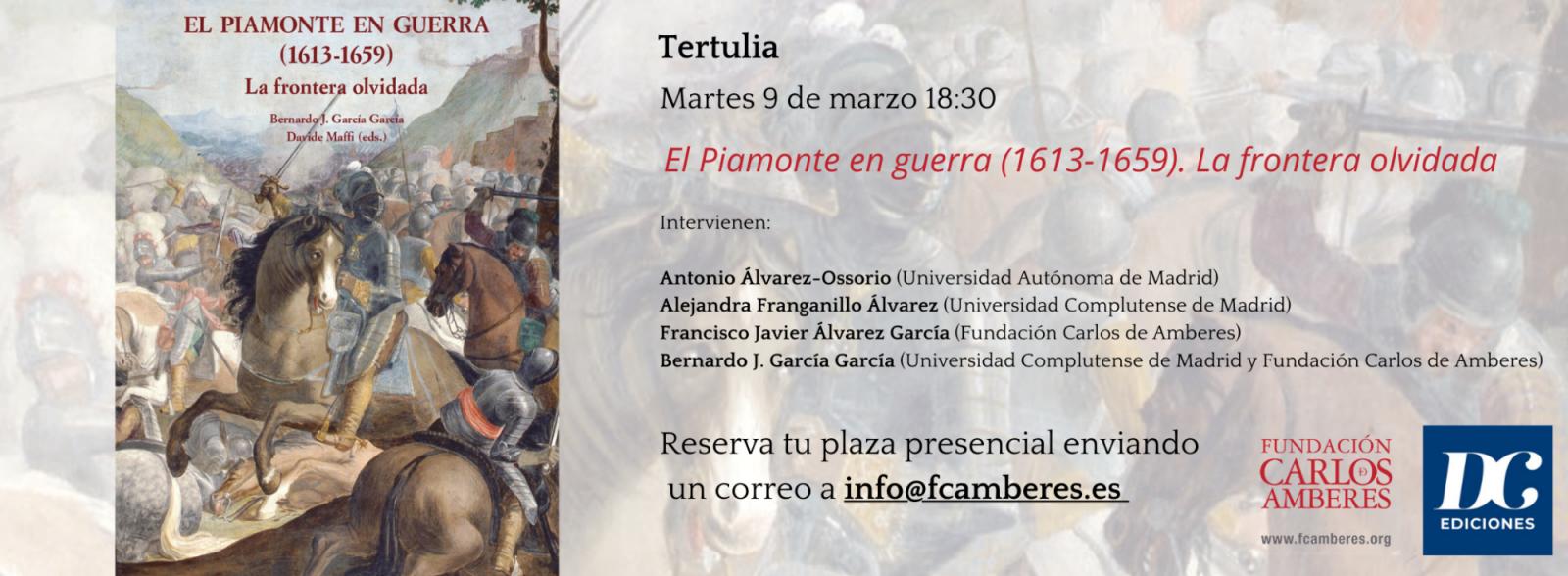 Tertulia Piamonte en Guerra (1613-1659). La frontera olvidada.